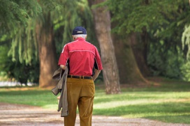oudere wandelaar