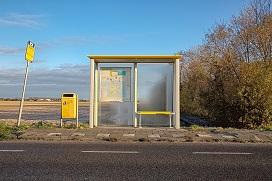 verlaten bushalte