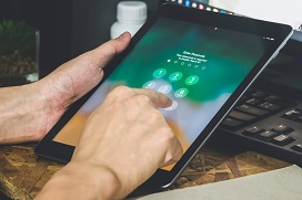 toegangscode tablet intoetsen